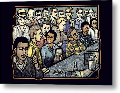 Lunch Counter Metal Print by Ricardo Levins Morales