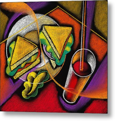 Lunch Metal Print by Leon Zernitsky