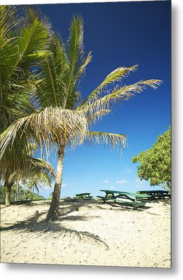 Lydgate Beach On Kauai Metal Print by Kicka Witte - Printscapes