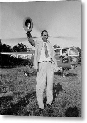 Lyndon Johnson Campaigning Metal Print by Everett