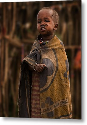 Maasai Boy Metal Print by Adam Romanowicz