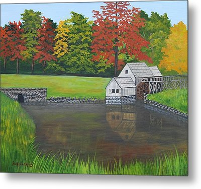 Mabry Grist Mill  Metal Print by Ruth  Housley