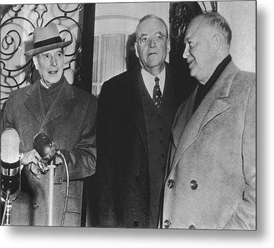 Macarthur, Dulles, Eisenhower Metal Print by Underwood Archives