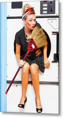 Machine Wash Housewife Metal Print by Jorgo Photography - Wall Art Gallery