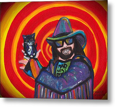 Macho Madness Comin Straight At You Metal Print by Monika Sylvestre