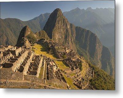 Machu Picchu At Dawn Near Cuzco Peru Metal Print by Colin Monteath