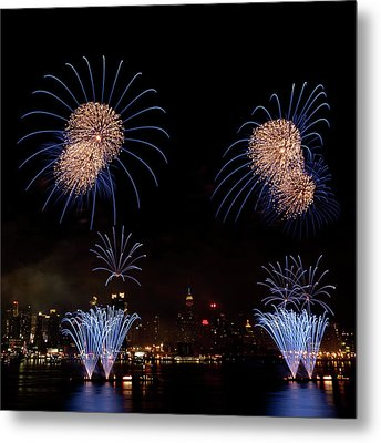 Macy's Fireworks IIi Metal Print by David Hahn