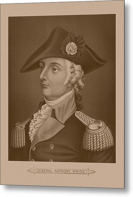 Mad Anthony Wayne Metal Print by War Is Hell Store