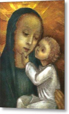 Madonna And Child Ausschnitt Metal Print by Ausschnitt