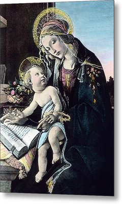 Madonna And Child Metal Print by German School