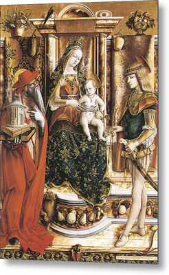Madonna Of The Swallow Metal Print by Carlo Crivelli