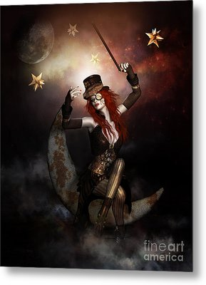 Maestro Steampunk Metal Print by Shanina Conway