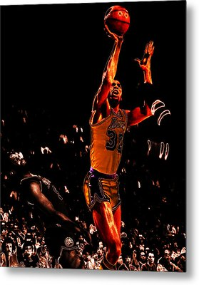 Magic Johnson Lean Back II Metal Print by Brian Reaves