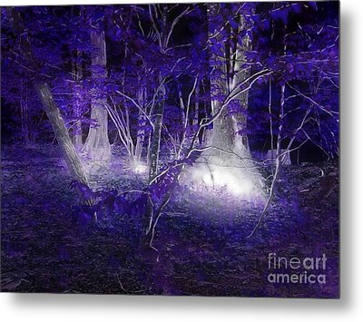 Magic Lives Within The Forest Metal Print by Roxy Riou