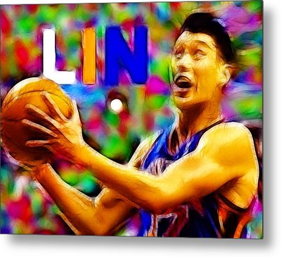 Magical Jeremy Lin Metal Print by Paul Van Scott