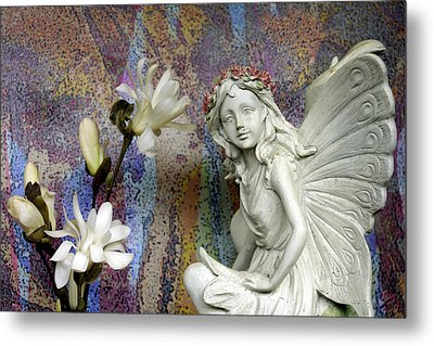 Magnolias With Fairy Metal Print by Betty Pehme