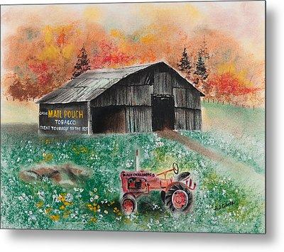Mail Pouch Barn West Virginia 3 Metal Print by Paul Cubeta