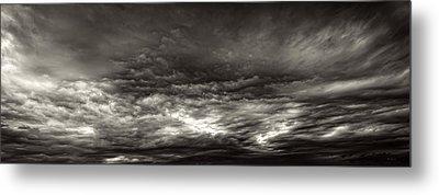 Maine Skyscape Moonlight Metal Print by Bob Orsillo