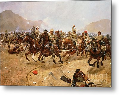 Maiwand Metal Print by Richard Caton II Woodville