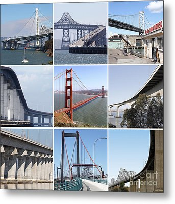 Majestic Bridges Of The San Francisco Bay Area 20150102 Metal Print by Home Decor