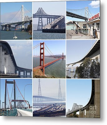 Majestic Bridges Of The San Francisco Bay Area Metal Print by Home Decor