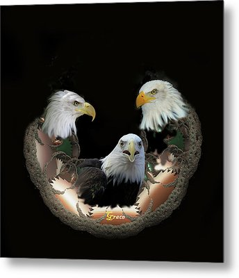 Majestic Eagles Metal Print by Julie Grace