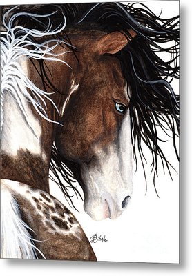 Majestic Pinto Horse 140 Metal Print by AmyLyn Bihrle