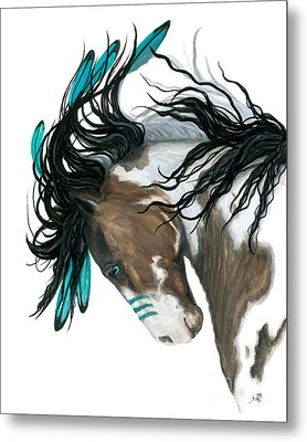 Majestic Turquoise Horse Metal Print by AmyLyn Bihrle