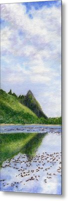 Makana Reflection Metal Print by Kenneth Grzesik