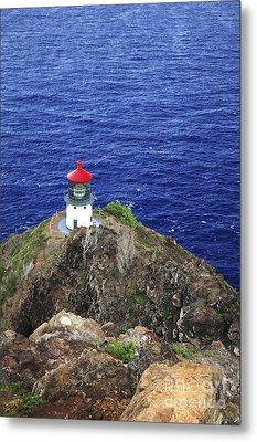 Makapuu Lighthouse II Metal Print by Brandon Tabiolo - Printscapes