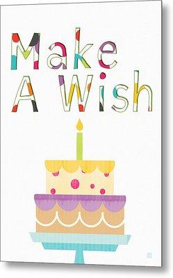 Make A Wish- Art By Linda Woods Metal Print by Linda Woods