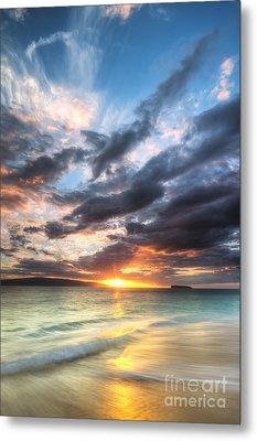 Makena Beach Maui Hawaii Sunset Metal Print by Dustin K Ryan