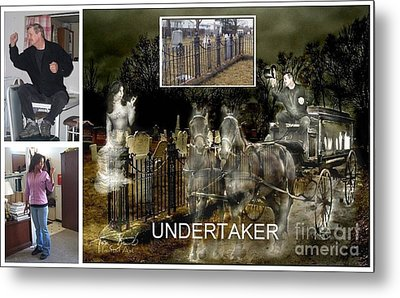 Making The Undertaker Metal Print by Tom Straub