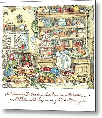 Making The Wedding Cake Metal Print by Brambly Hedge