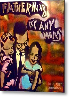 Malcolm X Fatherhood 2 Metal Print by Tony B Conscious