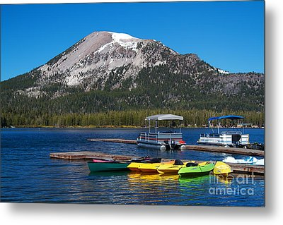 Mammoth Mountain California At Lake Mary Metal Print by ELITE IMAGE photography By Chad McDermott
