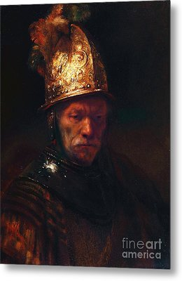 Man With The Golden Helmet Metal Print by Pg Reproductions