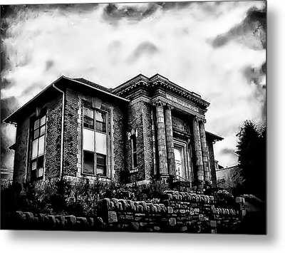 Manayunk Branch Of The Free Library Of Philadelphia Metal Print by Bill Cannon