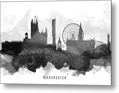Manchester Cityscape 11 Metal Print by Aged Pixel