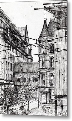 Manchester Town Hall From City Art Gallery Metal Print by Vincent Alexander Booth
