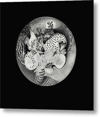 Mandala Metal Print by Ann Powell