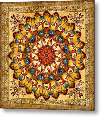 Mandala Ararat V2 Metal Print by Bedros Awak
