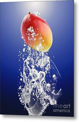 Mango Splash Metal Print by Marvin Blaine
