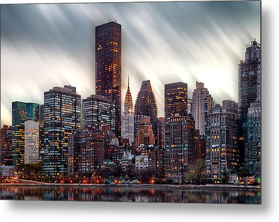 Manhattan Daze Metal Print by Az Jackson