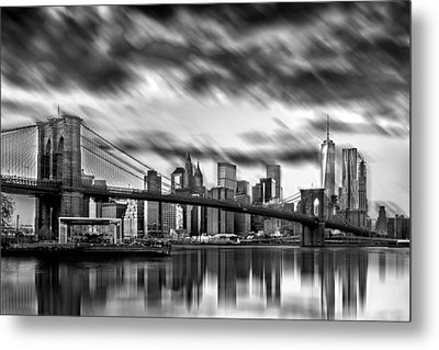 Manhattan Moods Metal Print by Az Jackson