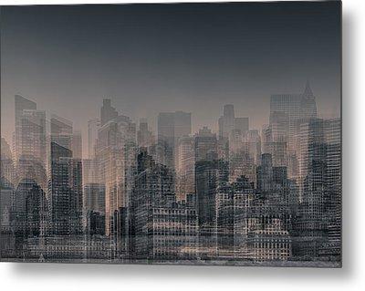 Manhattan Moves Metal Print by Az Jackson