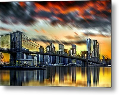 Manhattan Passion Metal Print by Az Jackson