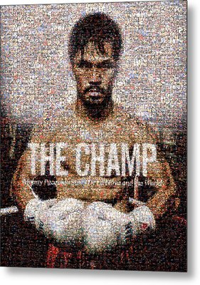 Manny Pacquiao-the Champ Metal Print by Ted Castor