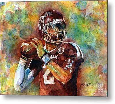 Manziel Metal Print by Hailey E Herrera