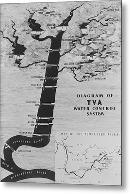 Map Diagrams The Functions The New Deal Metal Print by Everett